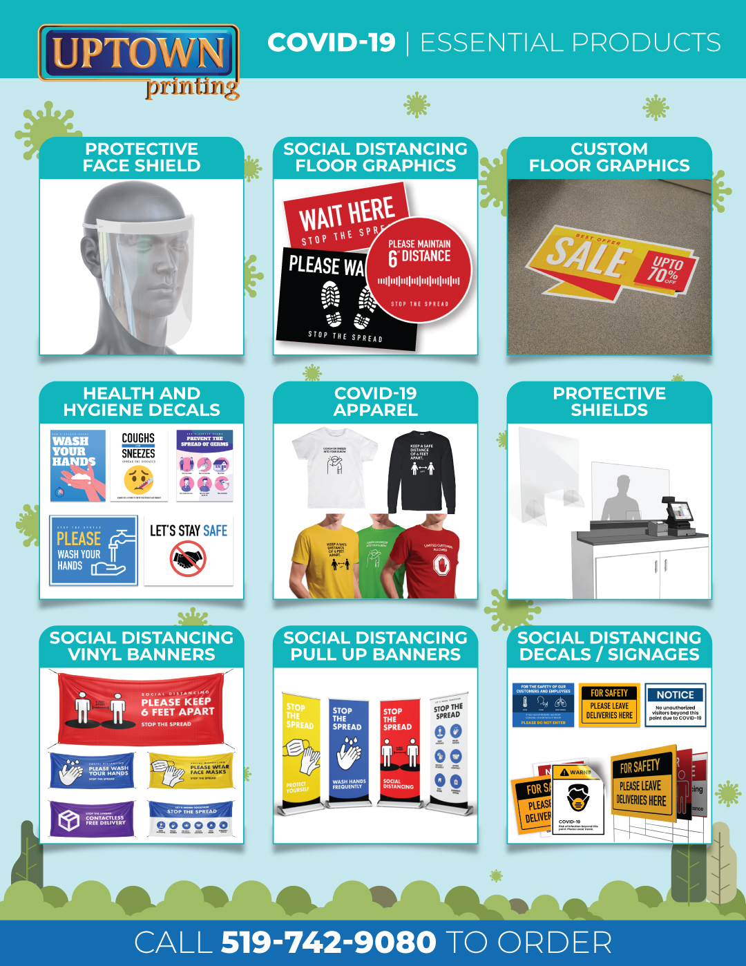Uptown Printing COVID19 Essential Products